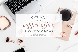 Copper Office Stock Photo Bundle