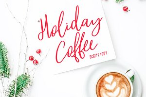 Holiday Coffee Script Font