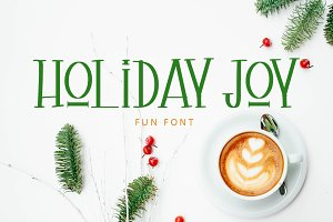 Holiday Joy Display Font