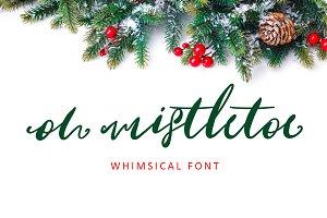 Oh Mistletoe Script Font