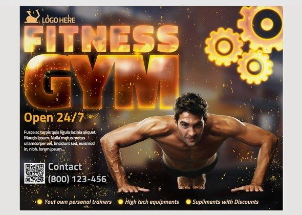 Gym Flyer Template Flyer Templates Creative Market