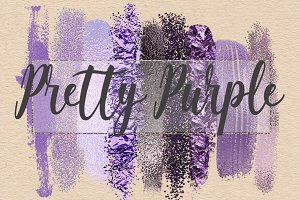 Pretty Purple Brush Strokes Clipart