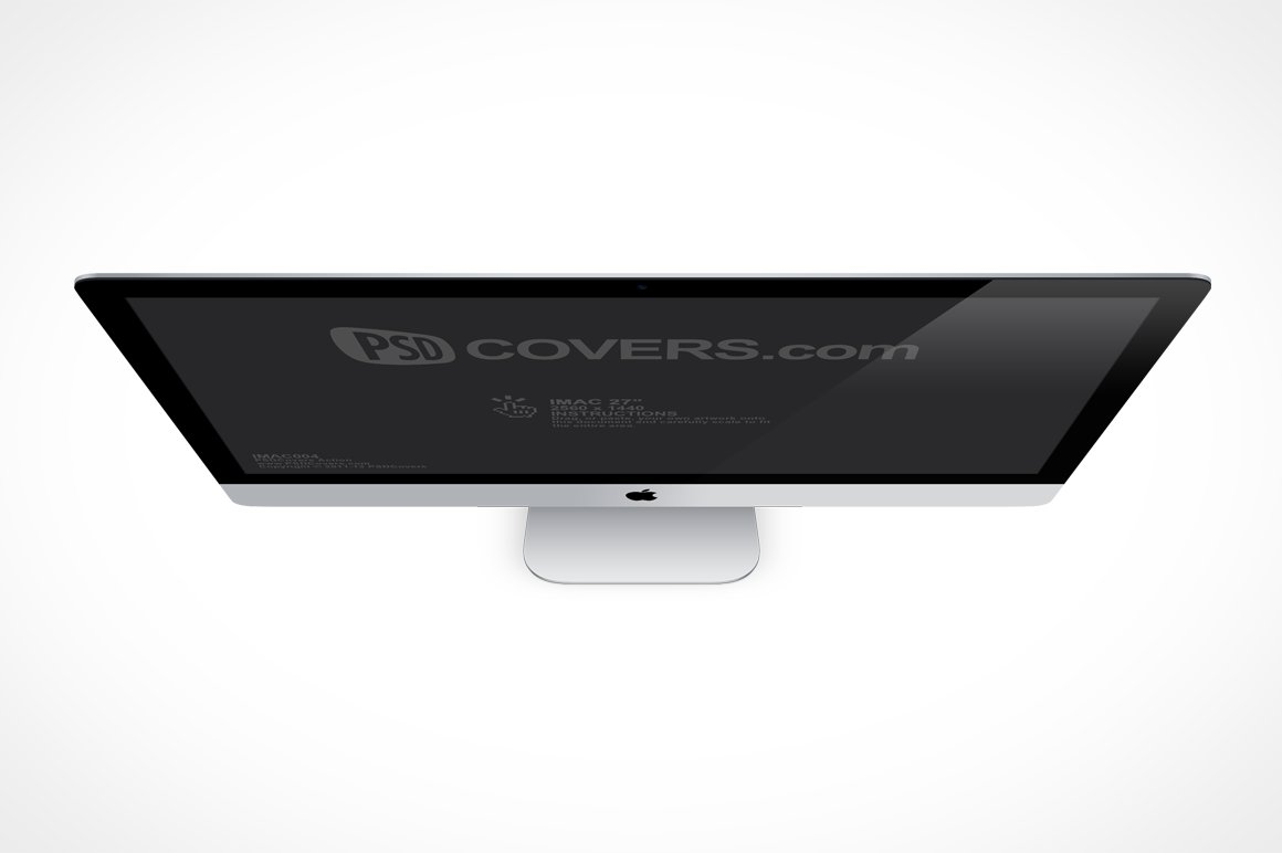 iMac 27in Top View Mock-Up ~ Product Mockups ~ Creative Market