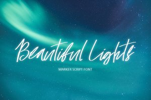 Beautiful Lights Script Font