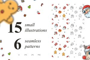 6 Seamless Christmas Patterns