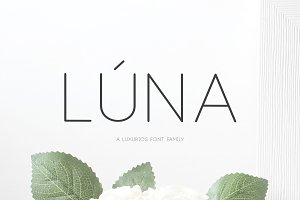 (NEW) Lúna - A Luxurios Font Family