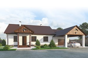 House with garage and veranda