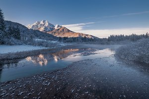 Winter fairytale in the morning