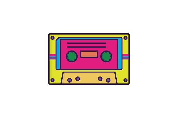 Аudiocassette vector illustration