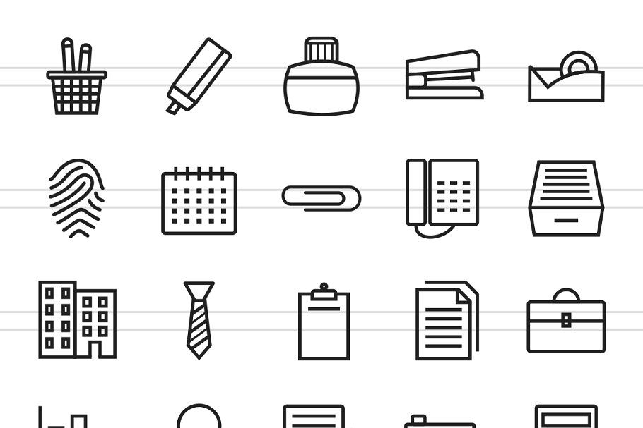 150 Office & Stationery Line Icons in Icons - product preview 1
