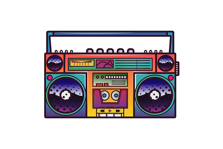 Boombox vector illustration