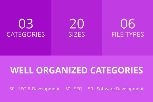 150 SEO & Development Line Icons in Graphics - product preview 2