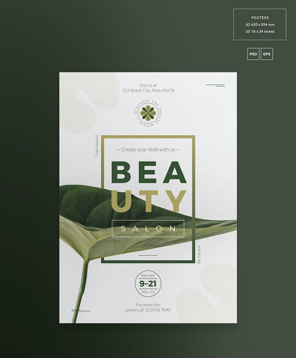 Posters | Beauty Salon in Flyer Templates - product preview 1