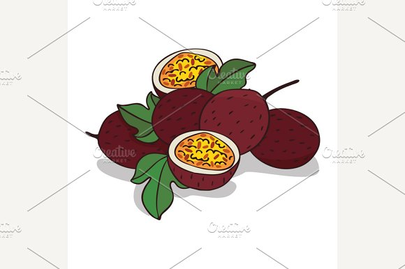 Isolate ripe passion fruit