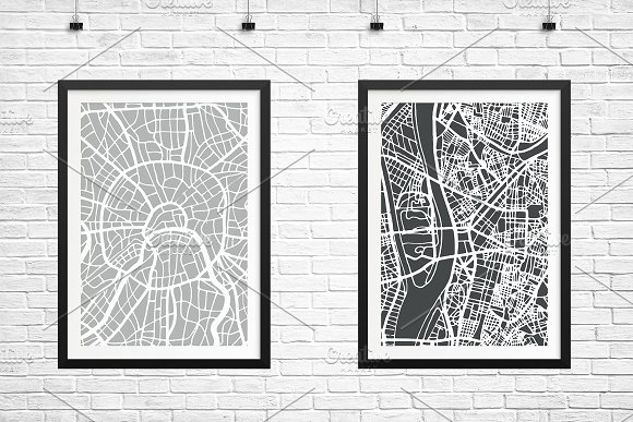 52 Hand Drawn Maps Set in Illustrations - product preview 2