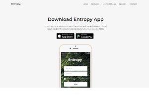 Entropy App Landing Page Template