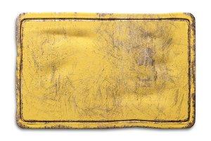 Yellow rusty metallic plate