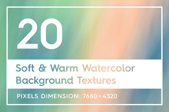 Soft & Warm Watercolor Backgrounds
