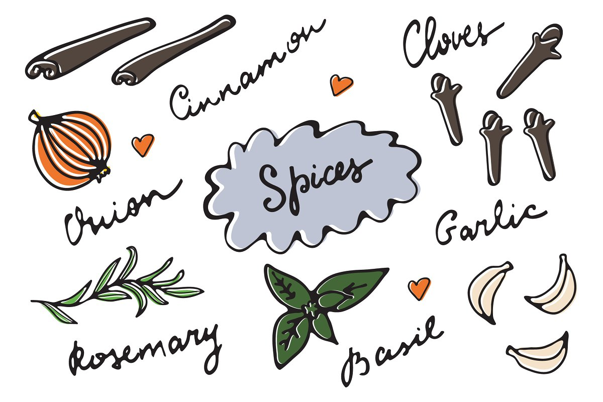 Spices graphics and patterns