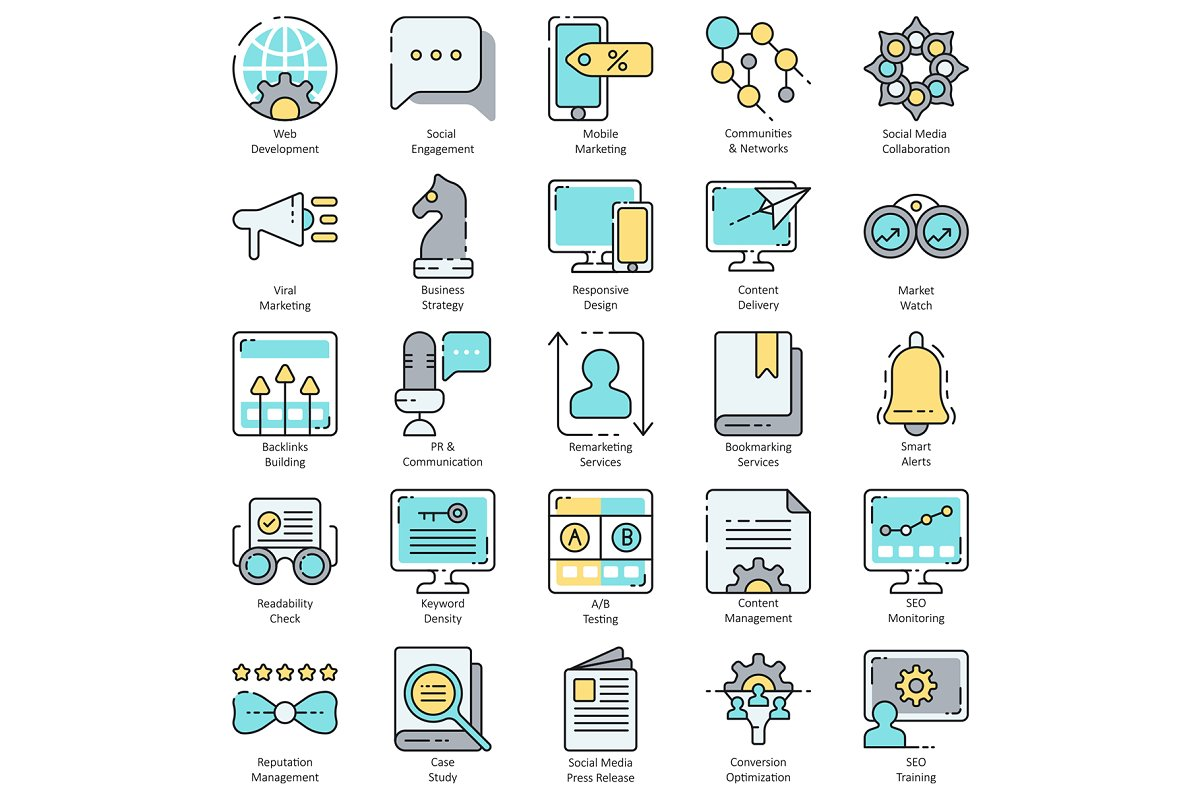 100 SEO & Internet Marketing Icons in Marketing Icons - product preview 2