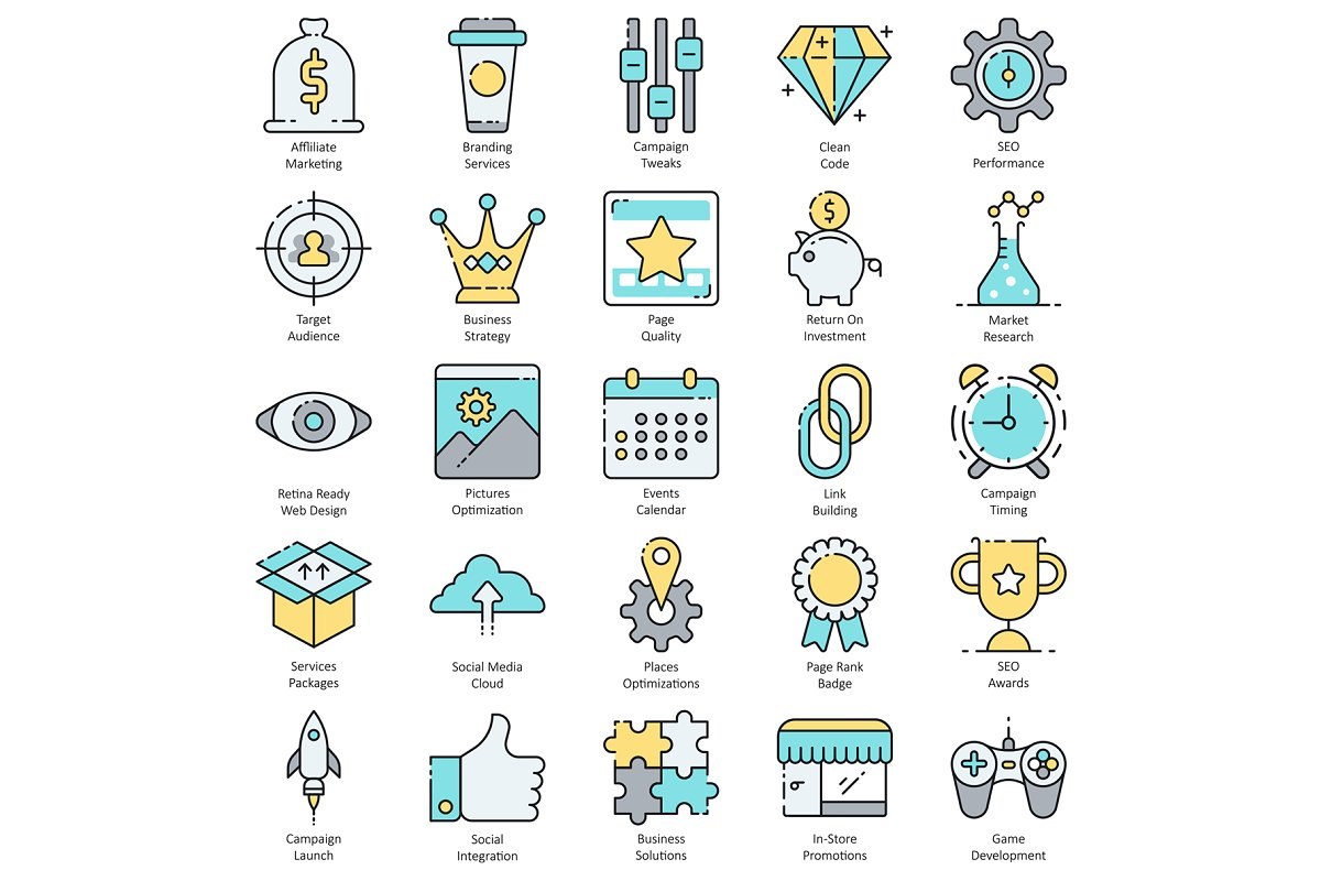 100 SEO & Internet Marketing Icons in Marketing Icons - product preview 3