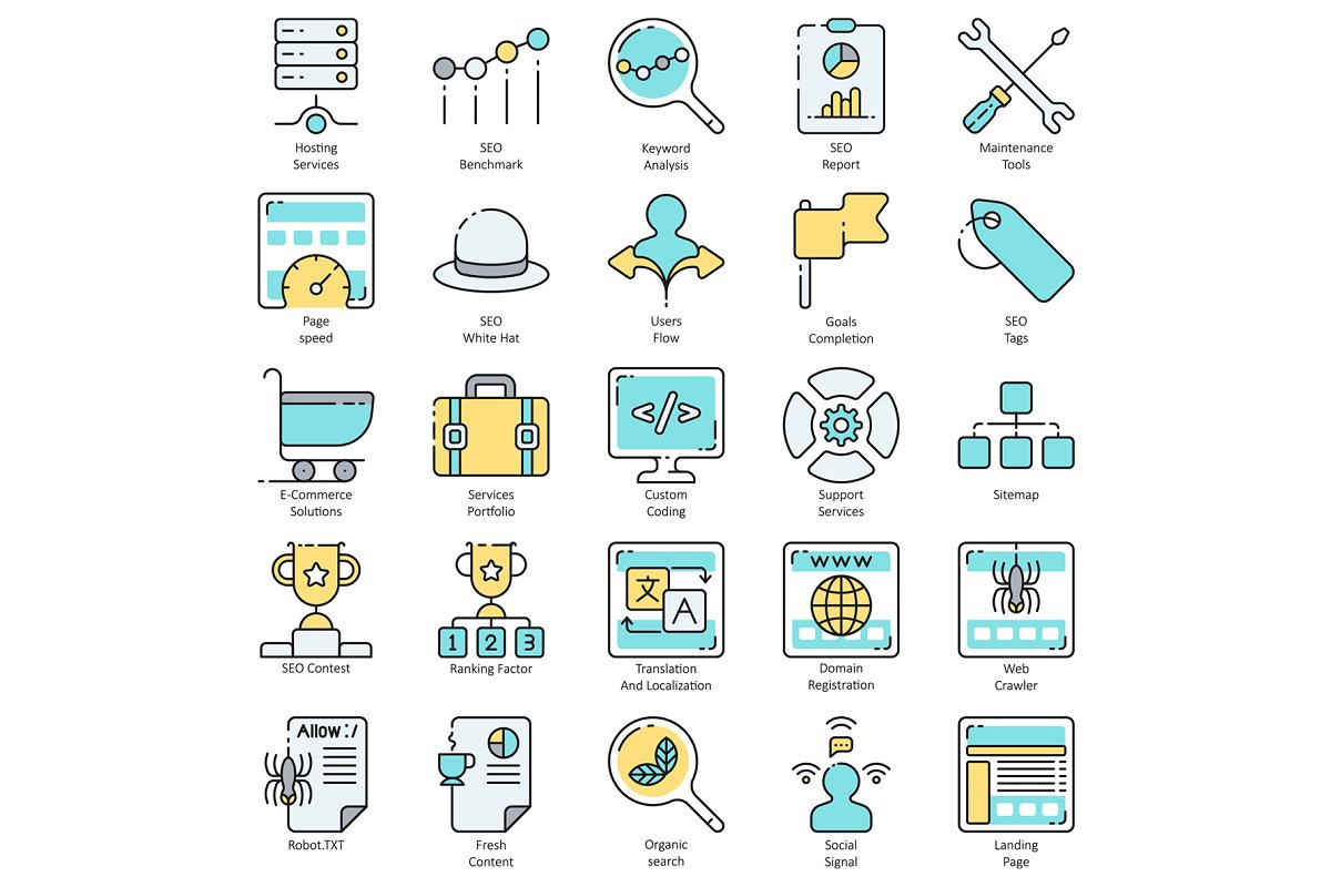 100 SEO & Internet Marketing Icons in Marketing Icons - product preview 4