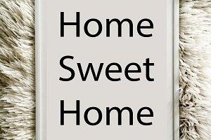 Home sweet home photo white