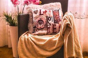 Romantic interior photo chair