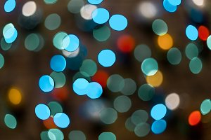 Colored Defocused Christmas Lights B