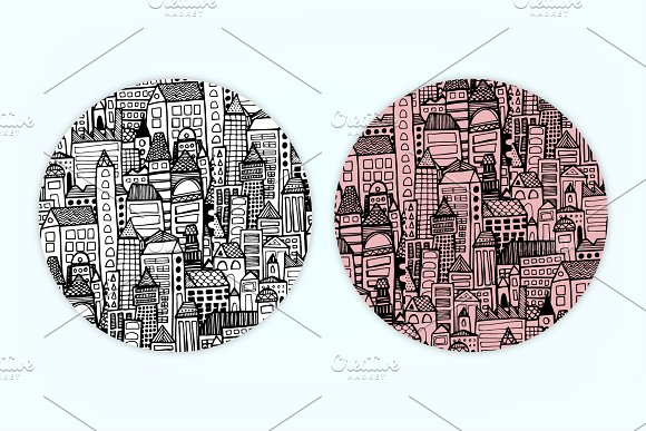 City | 7 Handmade Seamless Pattern in Patterns - product preview 1