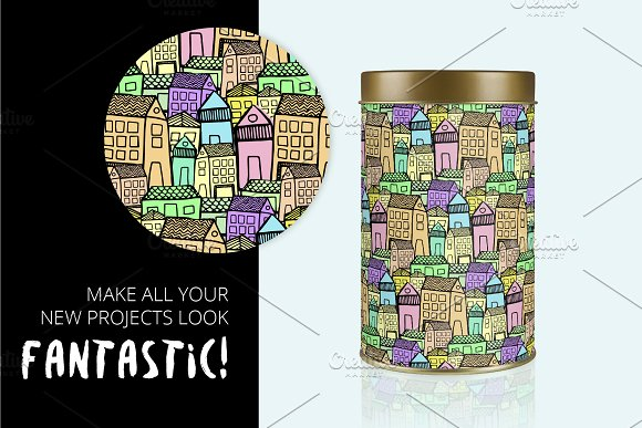 City | 7 Handmade Seamless Pattern in Patterns - product preview 7