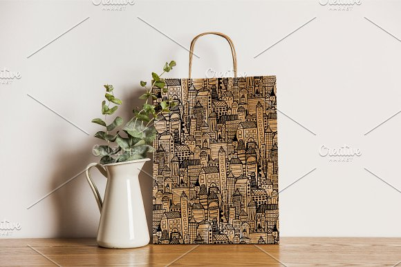 City | 7 Handmade Seamless Pattern in Patterns - product preview 8