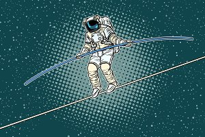 Astronaut tightrope Walker, the risks of a researcher of science
