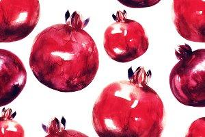 pomegranates seamless pattern | JPEG