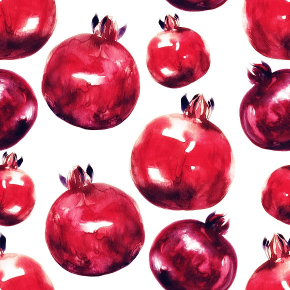 pomegranates seamless pattern | JPEG
