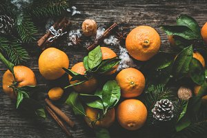 Composition with tangerines