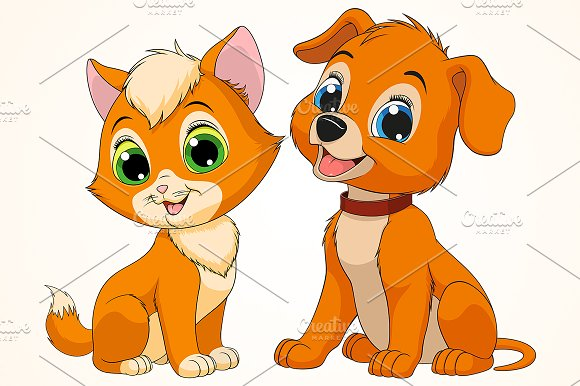 kitten and puppy friends