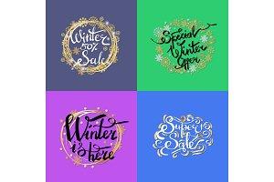 Winter Sale -50% Here on Vector Illustration