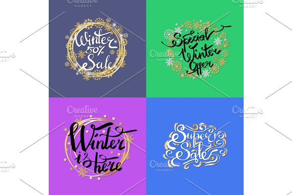 Winter Sale -50% Here on Vector Illustration