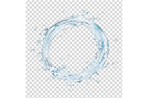 vector water splash circle