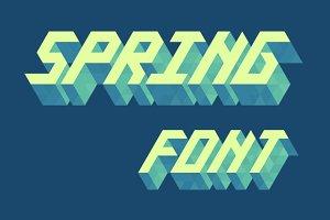 Isometric alphabet: Spring