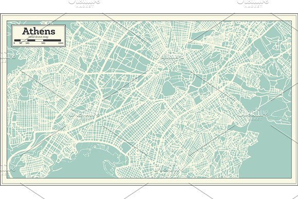 52 Hand Drawn Maps Set in Illustrations - product preview 8