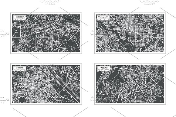 52 Hand Drawn Maps Set in Illustrations - product preview 14