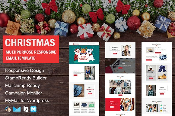 Christmas - New Year Email Template