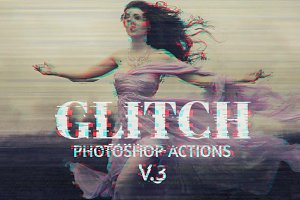 Glitch Photoshop PSD Template V.3