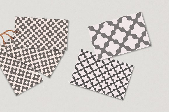 Fluid Dots seamless patterns set in Patterns - product preview 2