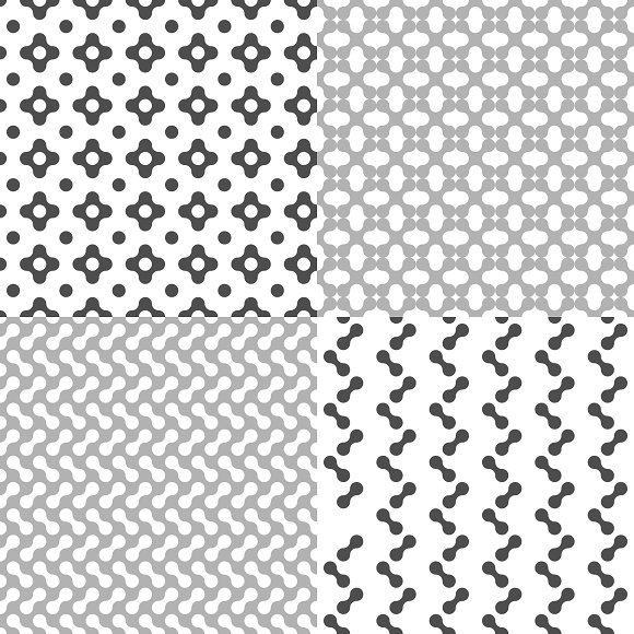 Fluid Dots seamless patterns set in Patterns - product preview 3