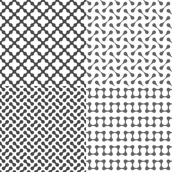 Fluid Dots seamless patterns set in Patterns - product preview 4