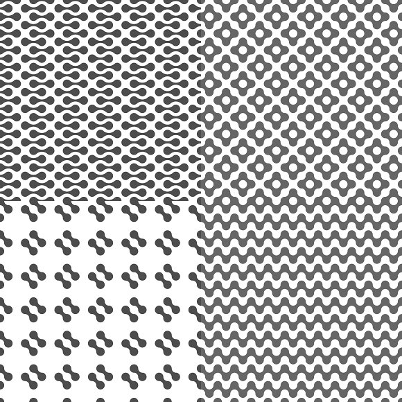 Fluid Dots seamless patterns set in Patterns - product preview 5