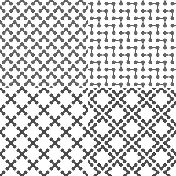 Fluid Dots seamless patterns set in Patterns - product preview 6